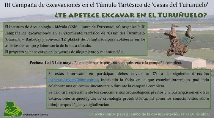 III CAMPAÑA DE EXCAVACIONES EN EL TÚMULO TARTÉSICO DE