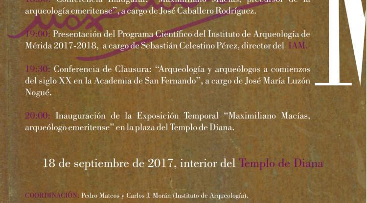 I DÍA DE MAXIMILIANO MACÍAS. 18 DE SEPTIEMBRE. TEMPLO DE DIANA (INTERIOR Y PÓRTICO).